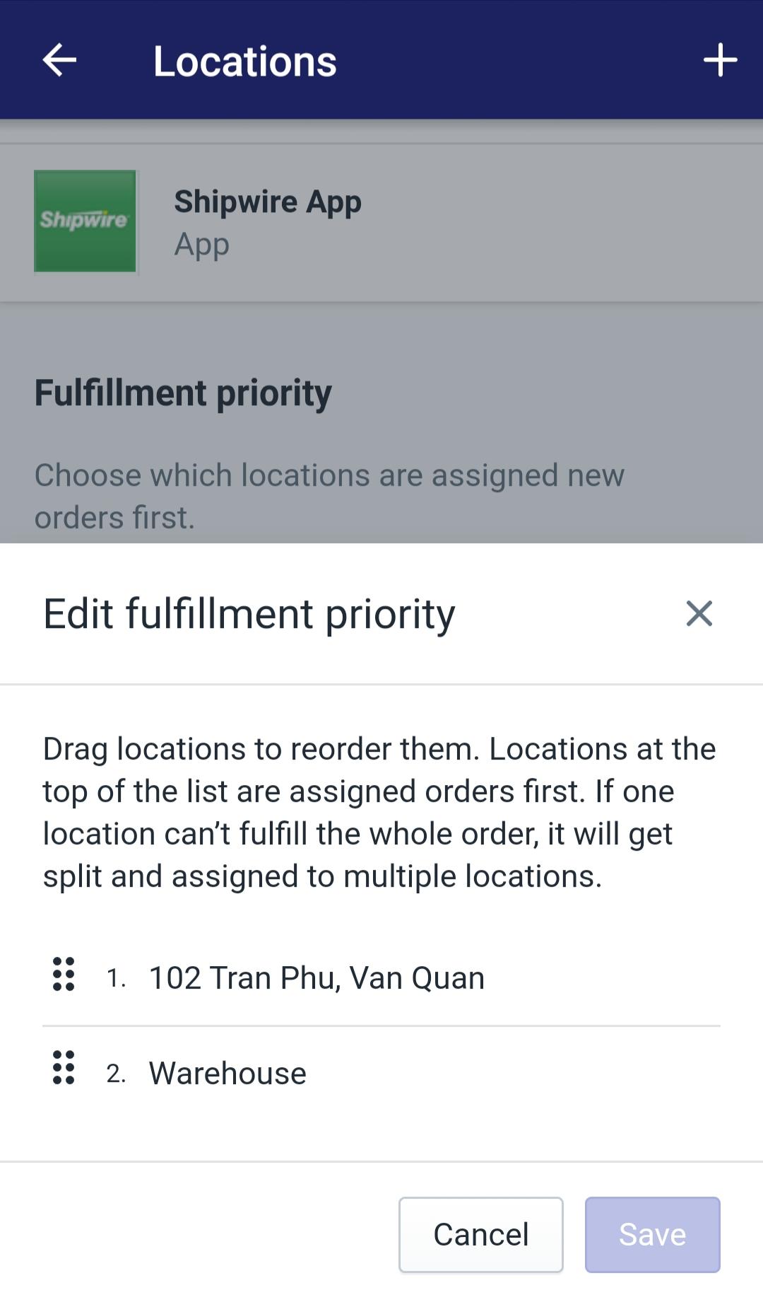 Set priority5