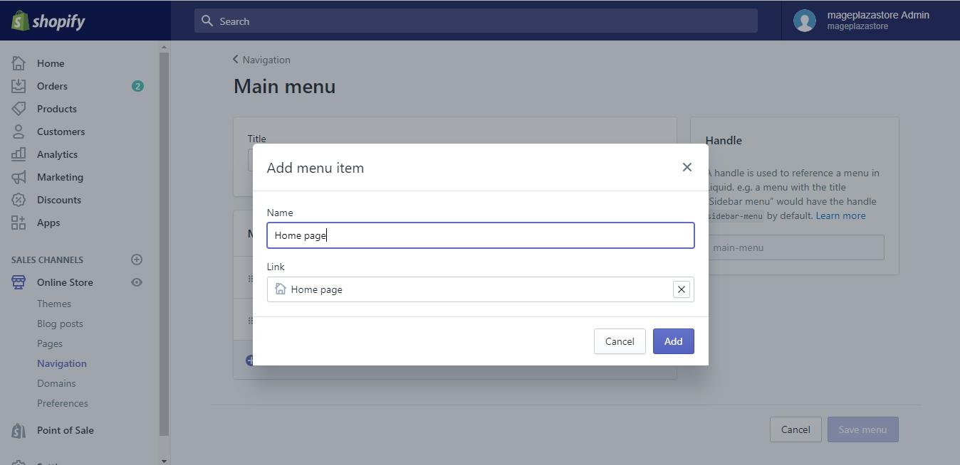 Add menu item5