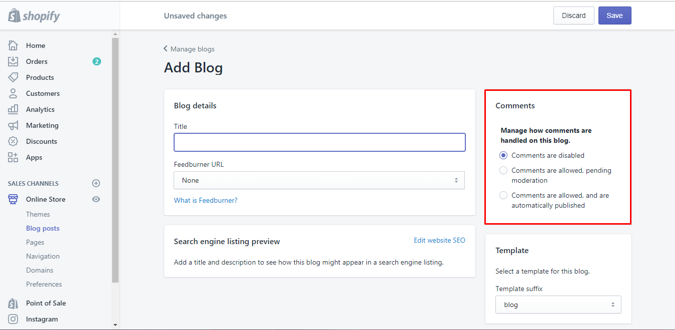 how to add a blog