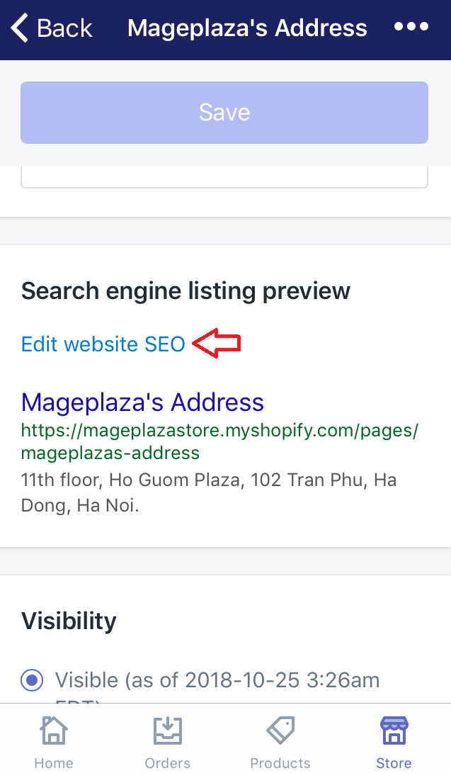 How to edit the search engine listing for a webpage
