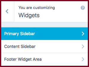insert widget