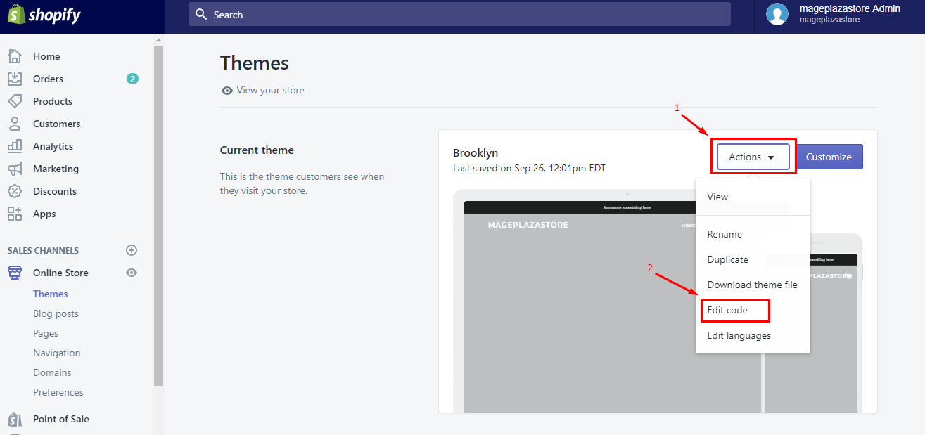 To create a new blog template on Desktop 2