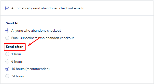 How to enable automatic abandoned checkout recovery emails 4