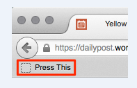 how to configure press this on your site