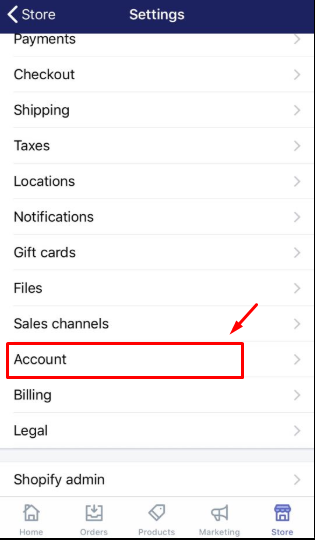 How to enable two-step authentication for a staff account on iPhone 2