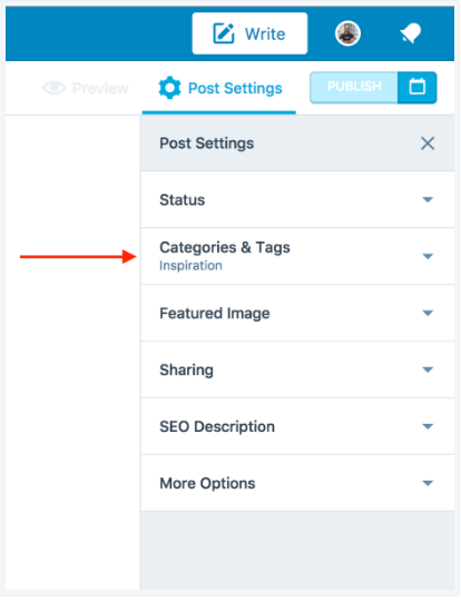 Inserting Categories through the Categories & Tags module
