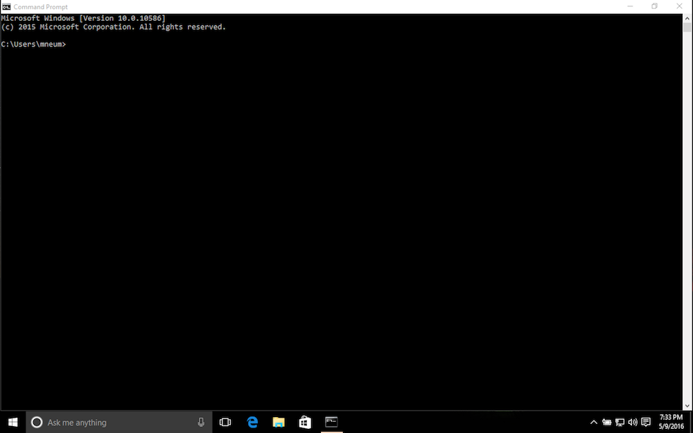 Open the command prompt