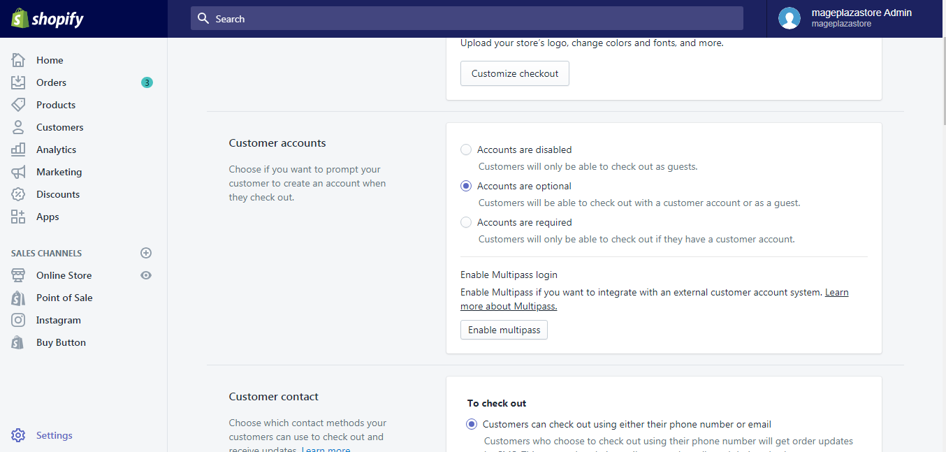 To set your customer account preferences on desktop 2