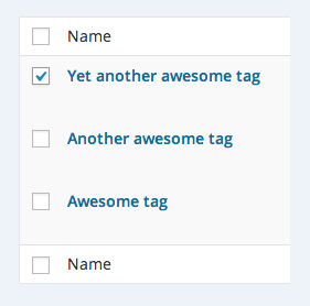 how to insert and manage tags on a post