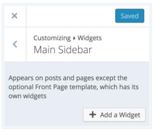 display Categories Widget