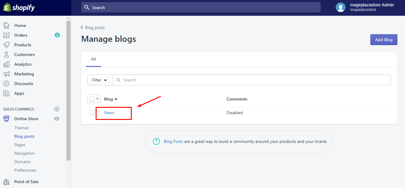 To apply a template to a blog on Desktop 3