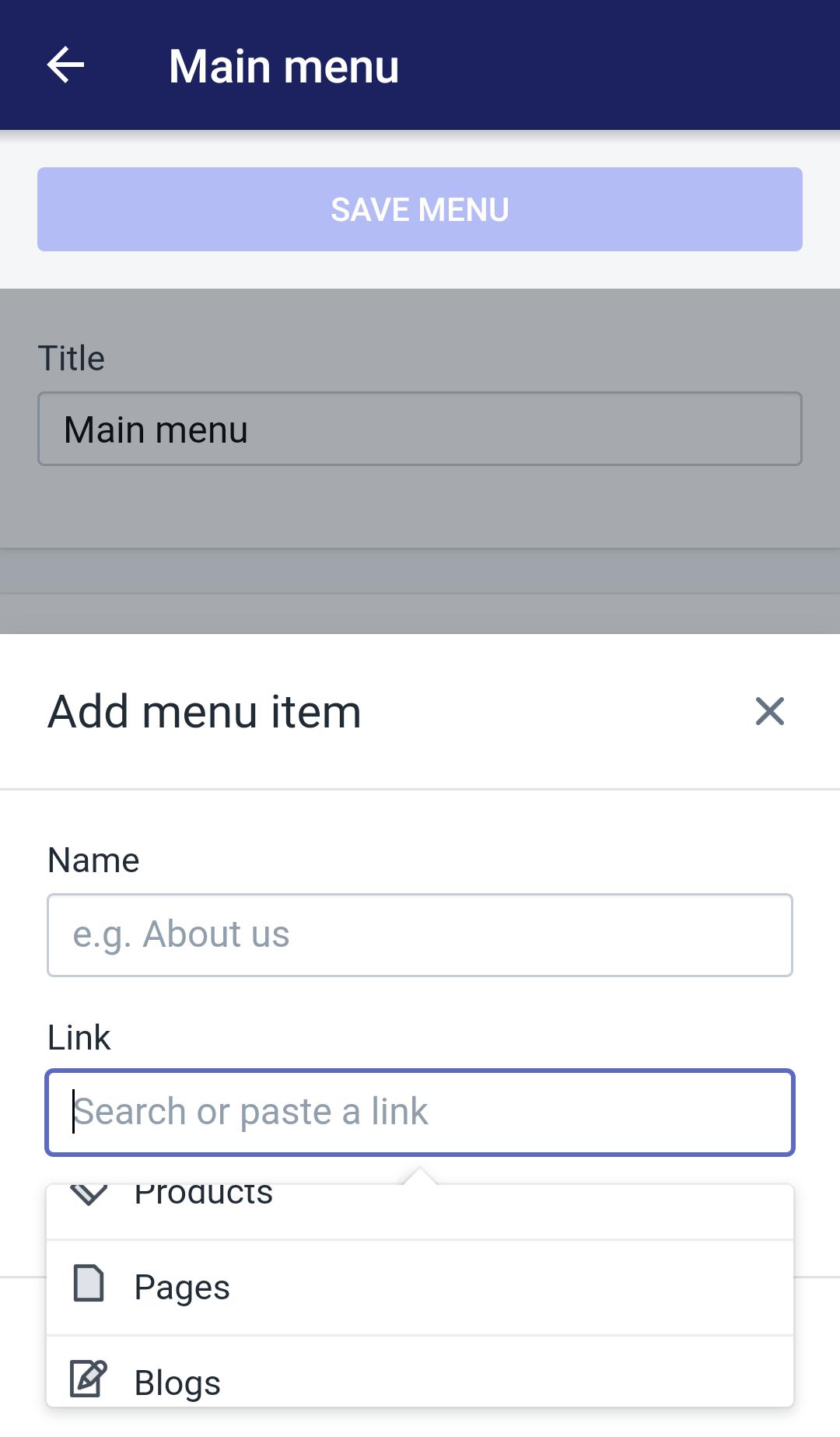 Add menu item13