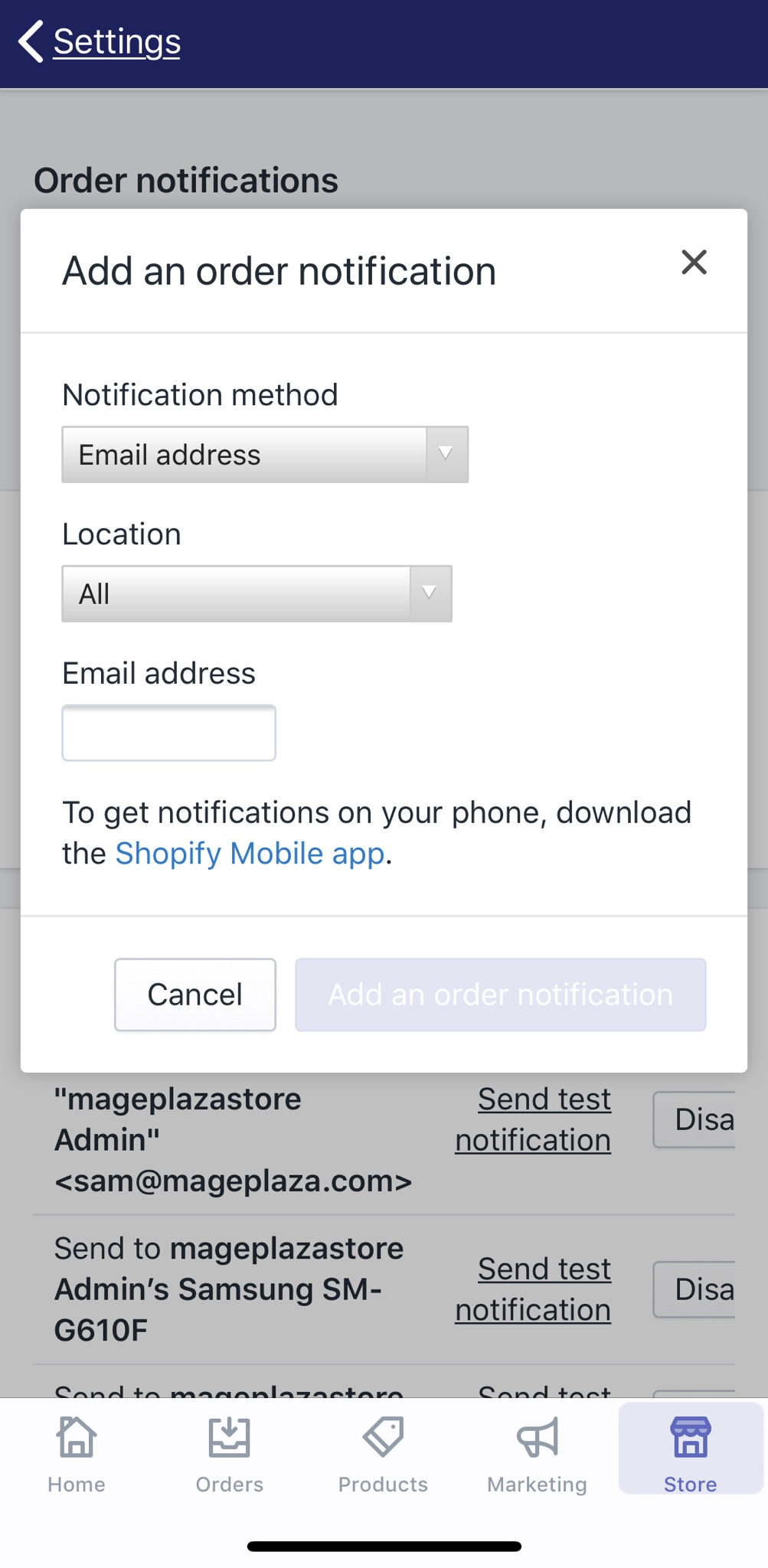 How to add a notification for new orders