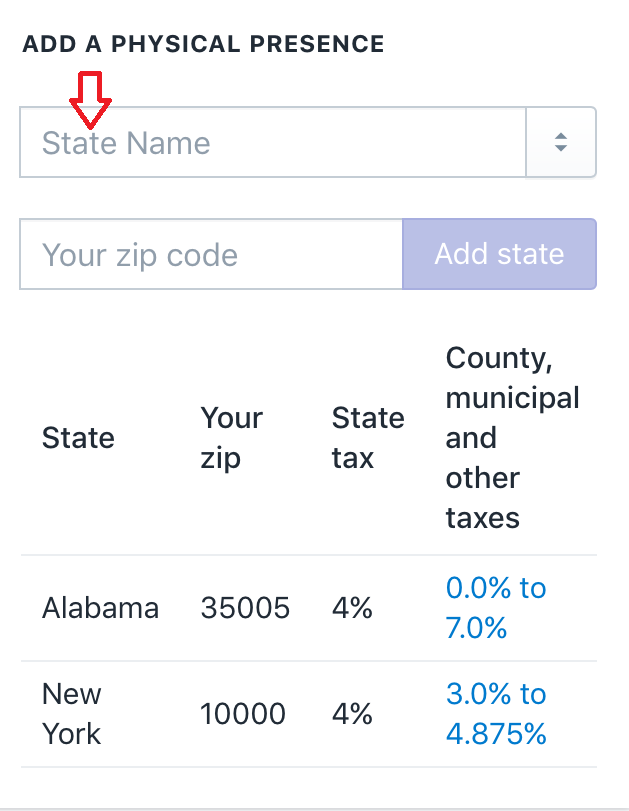 How to set up automatic tax rates
