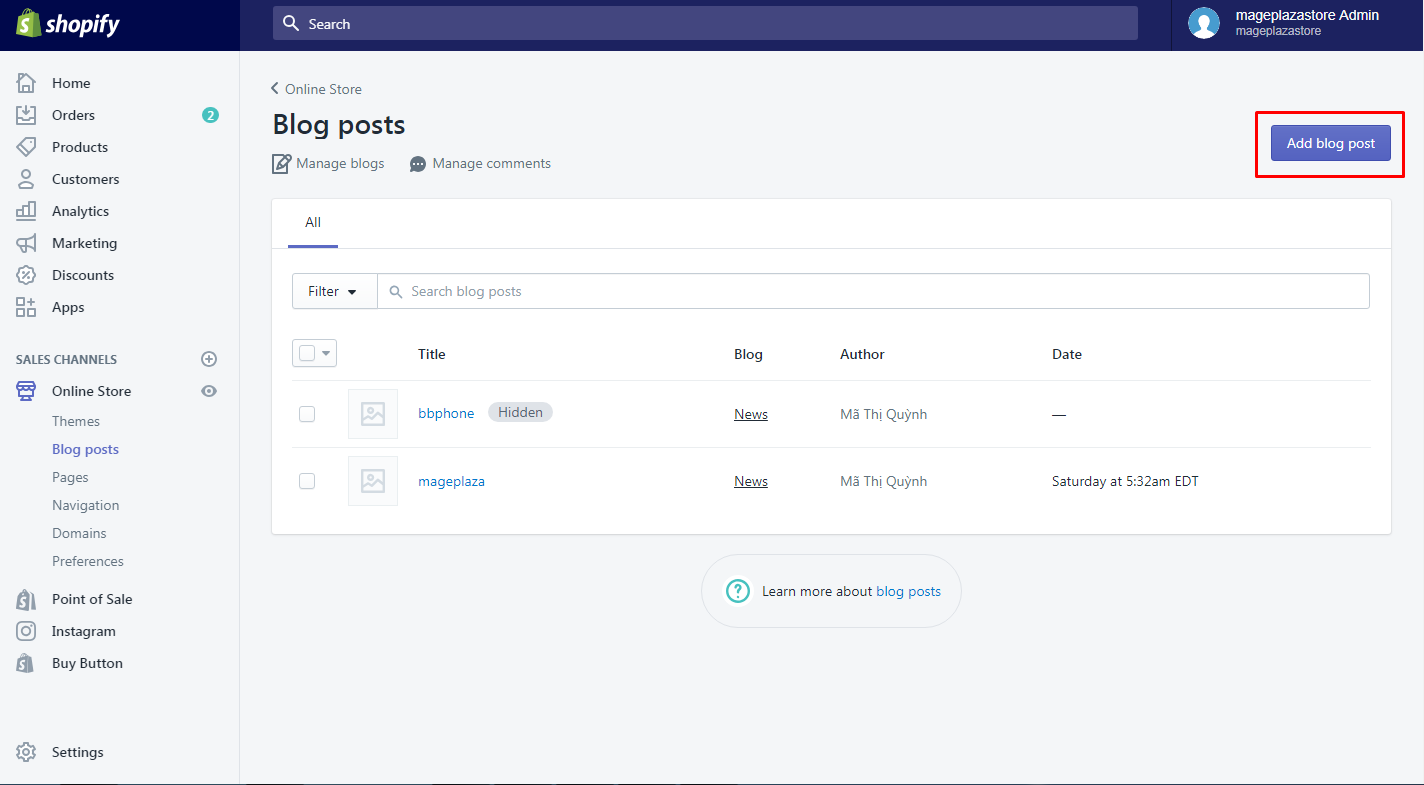 how to add a post to your blog