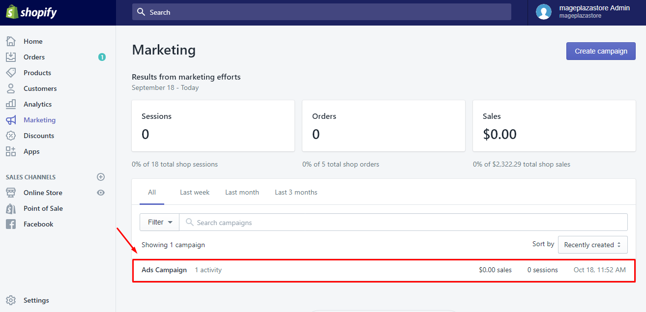How to view marketing activity reports 2