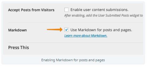 use Markdown