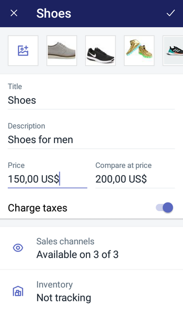 set a compare at price for a product