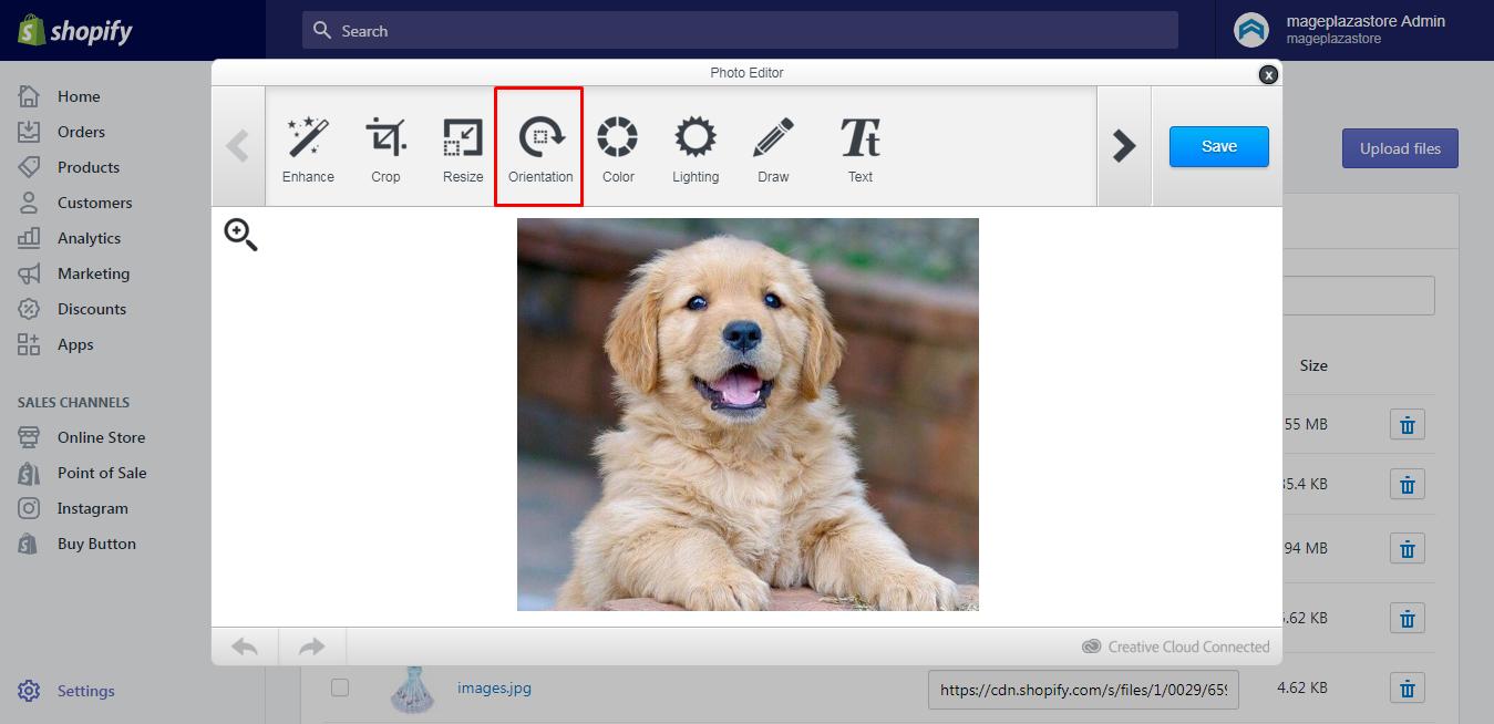 change an image's orientation