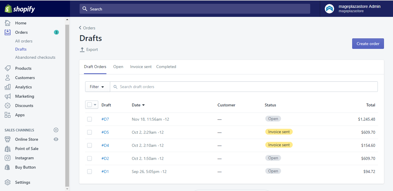 How to find or complete an existing draft order on Shopify