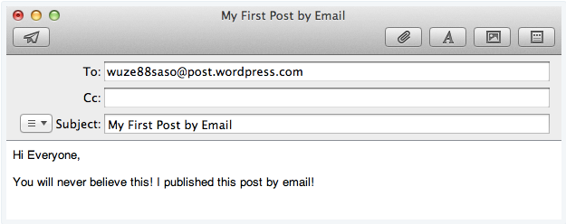 How to generate a post by email address