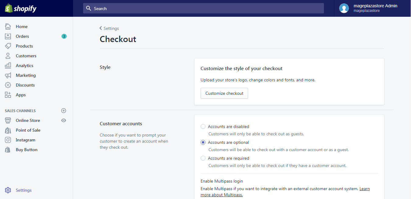 To change button and accent colors on the checkout page on desktop 2