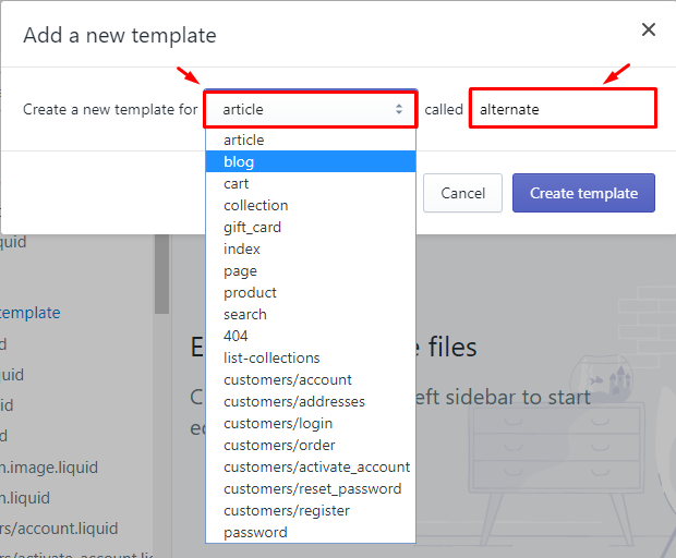 To create a new blog template on Desktop 4