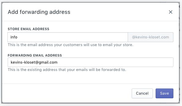 set up email forwarding