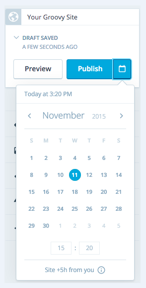 how to schedule a page